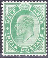 INDIA 1906 KEDVII 1/2 Anna Green SG149 MH - India