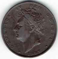 United Kingdom, 1827, One Farthing. - 1816-1901 : Muntslagen XIX° Eeuw