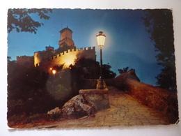 """Cartolina Viaggiata """"SAN MARINO Prima Torre - Notturno"""" 1981 - San Marino"""