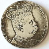 Réplica Moneda Italia. Rey Umberto I. 1 Talero – 5 Liras. Eritrea. 1891 - 1878-1900 : Umberto I