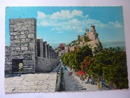 """Cartolina Viaggiata """"SAN MARINO  La Fortezza E Le Mura"""" - San Marino"""