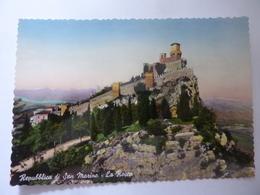 """Cartolina """"Repubblica Di S. Marino - La Rocca"""" 1955 - San Marino"""