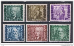 REGNO:  1936  P.A. IMPERO  -  S. CPL. 6  VAL. N. -  SASS. A 111 / A 116 - 1900-44 Vittorio Emanuele III