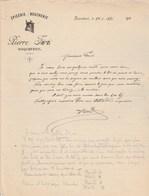 Facture Illustrée 15/1/1931 Pierre  FARRE épicerie Boucherie ROQUEFEUIL Aude - France