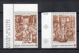 S.M.O.M. - 1990 - Solennità Dell'Ordine - 2 Valori Con Bordo Di Foglio - Nuovi - Vedi Foto - (FDC13861) - Malte (Ordre De)