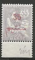 MAROC N° 33 Violet Pale NEUF**  SANS CHARNIERE / MNH - Maroc (1891-1956)