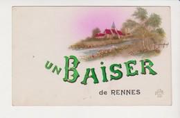 26627 RENNES France 35 Un Baiser De Rennes -ed Dédé 836 Paris - Rennes
