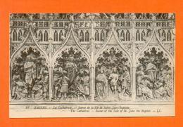 CPA FRANCE 80  ~  AMIENS  ~  12  La Cathédrale - Scènes De La Vie De Saint-Jean-Baptiste  ( LL ) - Amiens