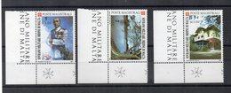 S.M.O.M. - 1988 - 50° Esplorazioni Luigi Di Savoia - 3 Valori Con Bordo Di Foglio Angolare - Nuovi - (FDC13862) - Malte (Ordre De)