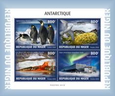 NIGER 2018 MNH Antarctica Antarktis Antartique Base Amundsen-Scott M/S - OFFICIAL ISSUE - DH1902 - Bases Antarctiques