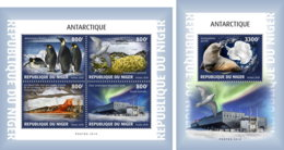 NIGER 2018 MNH Antarctica Antarktis Antartique Base Amundsen-Scott M/S+S/S - IMPERFORATED - DH1902 - Bases Antarctiques