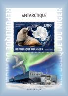 NIGER 2018 MNH Antarctica Antarktis Antartique Base Amundsen-Scott S/S - IMPERFORATED - DH1902 - Bases Antarctiques