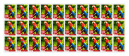 SIERRA LEONE 2018 MNH Red Parrot 30v - OFFICIAL ISSUE - DH1902 - Sierra Leone (1961-...)