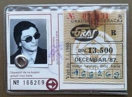 BOSNIA AND HERZEGOVINA Yugoslavia Male Annual Public Transport Ticket For Citizens Of Sarajevo - Season Ticket