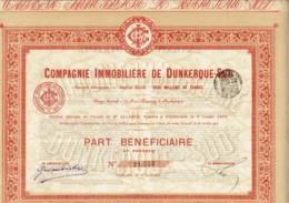 59-IMMOBILIERE DE DUNKERQUE-SUD. Part Bénéficiaire 1905.  Lot De 9 Titres - Other