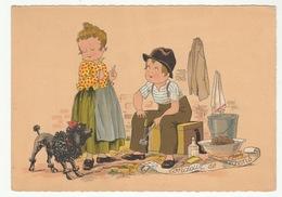 Barré & Dayez - E. Naudy (Renaudin) LE TONDEUR DE CHIEN (Caniche) - Les Petits Métiers De La Rue - 1305 J - - Autres Illustrateurs