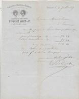 Facture Illustrée 2/7/1877 PINET LOUET Filature Draperie QUILLAN Aude à Marot Limoux - France