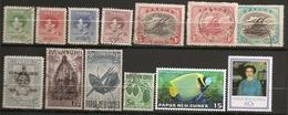 PETIT LOT DE TIMBRES DE PAPOUASIE NOUVELLE GUINEE OBLITERES - Papouasie-Nouvelle-Guinée