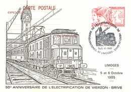 19 ☺♦♦ BRIVE - ELECTRIFICATION LIGNE De CHEMIN De FER Vers VIERZON En 1985 - TRAIN 2D2 5516 En GARE De LIMOGES - BAHN - Brive La Gaillarde