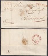 """PAYS-BAS 1844 """"DELFT """" FRANCO Vers SCHIEDAM (6G24546) DC-1605 - Pays-Bas"""