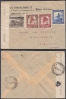 CONGO BELGE COB 230+235+259+264 DE COSTERMANSVILLE 30/04/1945 VERS BRUXELLES CENSURE (DD) DC-1613 - 1923-44: Lettres