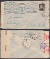 AFRIQUE DU SUD LETTRE DE DURBAN 30/06/1944 Vers TSHIKAPA  CENSURE (DD) DC-1617 - Belgian Congo