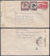 CONGO BELGE COB 232+241+256 DE LUPUTA 11/12/1943 Vers NEW-YORK CENSURE  (DD) DC-1622 - Belgian Congo