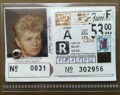 BOSNIA AND HERZEGOVINA Female Annual Public Transport Ticket For Spouse Of Retiree - Season Ticket