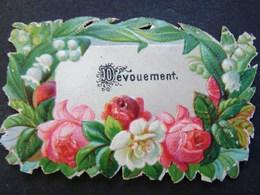 Découpis. 11. Fleurs Encadrant Le Mot Dévouement - Fleurs