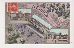 26631 RENNES France 35 Souvenir De Rennes Multivues Violette Style 1900 -ed LL - Rennes