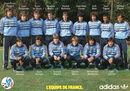 Carte Postale Adidas  EQUIPE DE FRANCE   DE FOOTBALL EN STAGE A JOUY-EN-JOSAS 5 SEPT 1983 - Calcio