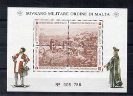 S.M.O.M. - 1993 - Antiche Fortezze Dell'Ordine - 3^ Serie - Foglietto Di 4 Valori  - Nuovi - (FDC13864) - Malte (Ordre De)