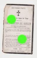 HANSSEN Docteur En Médecine Au Congo  Aubel 1869 Bpmokandi 1899 - Overlijden