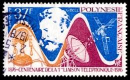 POLYNESIE 1976 - Yv. 110 Obl.   Cote= 6,10 EUR - 1ère Liaison Téléphonique  ..Réf.POL23498 - Polynésie Française