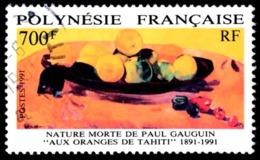 POLYNESIE 1991 - Yv. 385 Obl. TB  Cote= 11,00 EUR - Nature Morte De Paul Gauguin  ..Réf.POL23499 - Polynésie Française