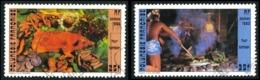 POLYNESIE 1985 - Yv. 241 Et 242 Obl.  - Four Tahitien: Cochon, Cuisiniers (2 Val.)  ..Réf.POL23500 - Polynésie Française