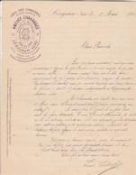 Facture Illustrée 2/3/1885 Amédée CHAVARDES Vins Corbières  LEZIGNAN Aude - France