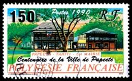 POLYNESIE 1990 - Yv. 358 Obl.  - Mairie De Papeete  ..Réf.POL23504 - Polynésie Française