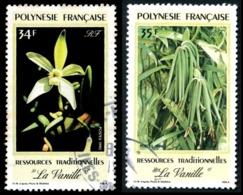 POLYNESIE 1990 - Yv. 350 Et 351 Obl.  - La Vanille (2 Val.)  ..Réf.POL23506 - Polynésie Française