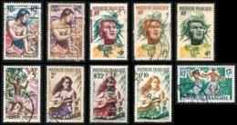 POLYNESIE 1958 - Yv. 1 à 11 Sauf 3 Obl.   Cote= 23,20 EUR - 1ère Série De Polynésie  ..Réf.POL23507 - Französisch-Polynesien