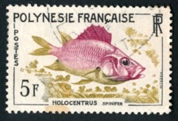 POLYNESIE 1962 - Yv. 18 Obl.   Cote= 3,00 EUR - Poissons : Holocentrus Spinifer  ..Réf.POL23509 - Polynésie Française
