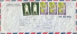 Barbados 1978 Bridgetown Parliament Climber Flower Registered Cover - Barbados (1966-...)