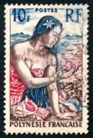 POLYNESIE 1958 - Yv. 9 Obl.   Cote= 3,00 EUR - Jeune Fille Au Coquillage  ..Réf.POL23519 - Polynésie Française
