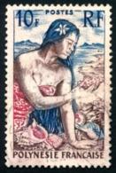 POLYNESIE 1958 - Yv. 9 Obl.   Cote= 3,00 EUR - Jeune Fille Au Coquillage  ..Réf.POL23520 - Polynésie Française
