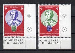 S.M.O.M. - 1996 - Gran Maestro Fra Guillame De Billaret - 2 Valori - Con Bordo Di Foglio Angolare - Nuovi - (FDC13865) - Malte (Ordre De)