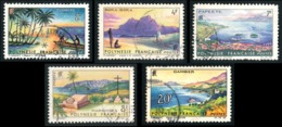 POLYNESIE 1964 - Yv. 30 31 32 33 34 Obl.   Cote= 11,00 EUR - Paysages De Polynésie Française (5 Val.)  ..Réf.POL23523 - Polynésie Française