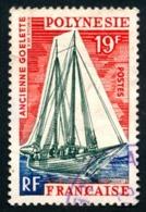 POLYNESIE 1966 - Yv. 40 Obl.   Cote= 2,60 EUR - Bateaux : Goélette  ..Réf.POL23527 - Polynésie Française