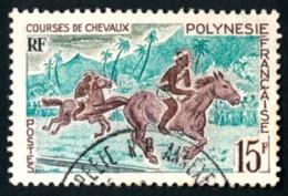 POLYNESIE 1967 - Yv. 49 Obl.   Cote= 2,00 EUR - Courses De Chevaux  ..Réf.POL23528 - Polynésie Française