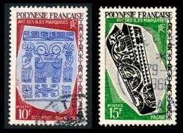 POLYNESIE 1968 - Yv. 52 Et 53 Obl.  - Arts Des îles Marquises (2 Val.)  ..Réf.POL23531 - Polynésie Française
