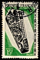 POLYNESIE 1968 - Yv. 53 Obl.  - Arts Des îles Marquises  ..Réf.POL23532 - Polynésie Française